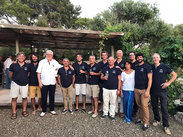 Cena de clausura de la Volta a Menorca  2017 en les cavas de Binifadet