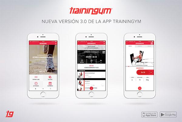 Trainingym presenta la versión 3.0 de su App