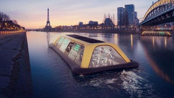 El gimnasio flotante surcará el río Sena en 2018