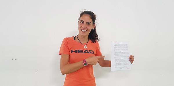 Ángela Caro seguirá con Head Pádel