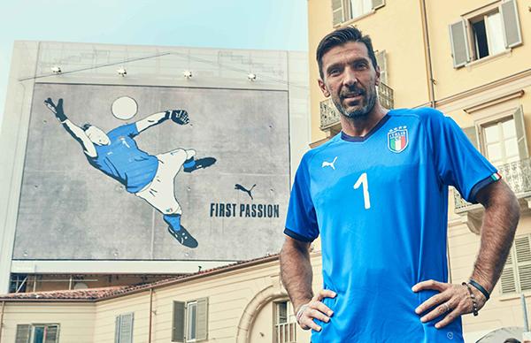 Puma homenajea a Buffon con una nueva camiseta de Italia