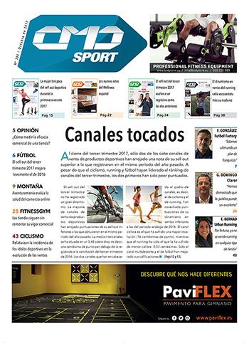 Portada de la edición 395 de la revista impresa CMDsport. Marcas anunciantes de dicha portada: BODYTONE y PAVIFLEX.