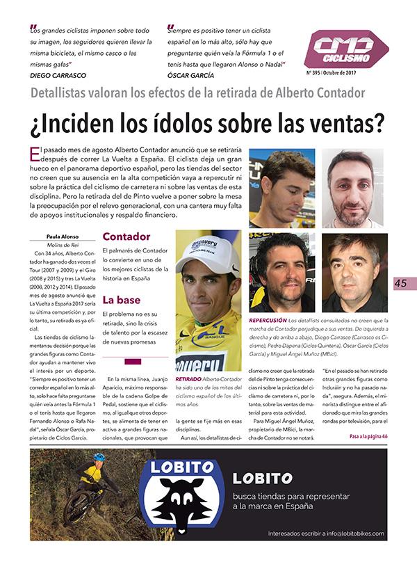 Plana de la sección de Ciclismo de CMDsport nº 395, patrocinada por Lobito Bikes.