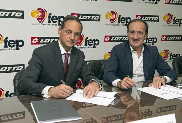 Lotto vestirá a la Federación Española de Pádel en 2019