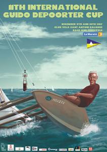 Cartel de la 11ª edición de la International Guido Depoorter Cup que este 2017 tendrá lugar en Sant Antoni de Calonge los días 9 y 10 de diciembre.