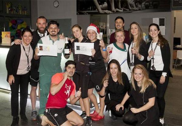 Los trabajadores del gimnasio O2 de Málaga, agraciados con el Gordo de Navidad