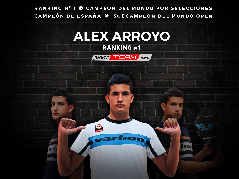 Varlion ficha a Alejandro Arroyo, joven talento del pádel