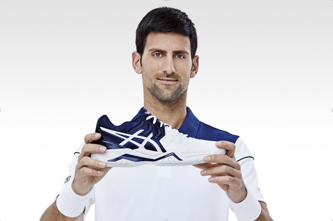 Asics ficha a Djokovic para convertirse en la marca número uno de tenis del mundo