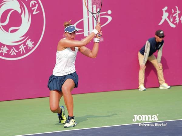 Joma refuerza su apuesta por el tenis fichando a la brasileña Beatriz Haddad