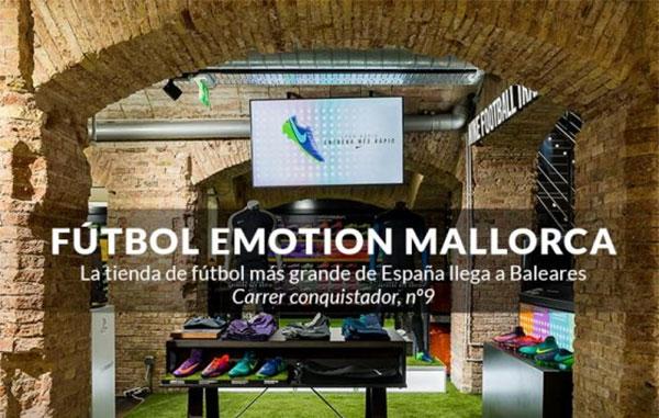 Futbol Emotion aterriza en Mallorca con la tienda de fútbol más grande de la isla