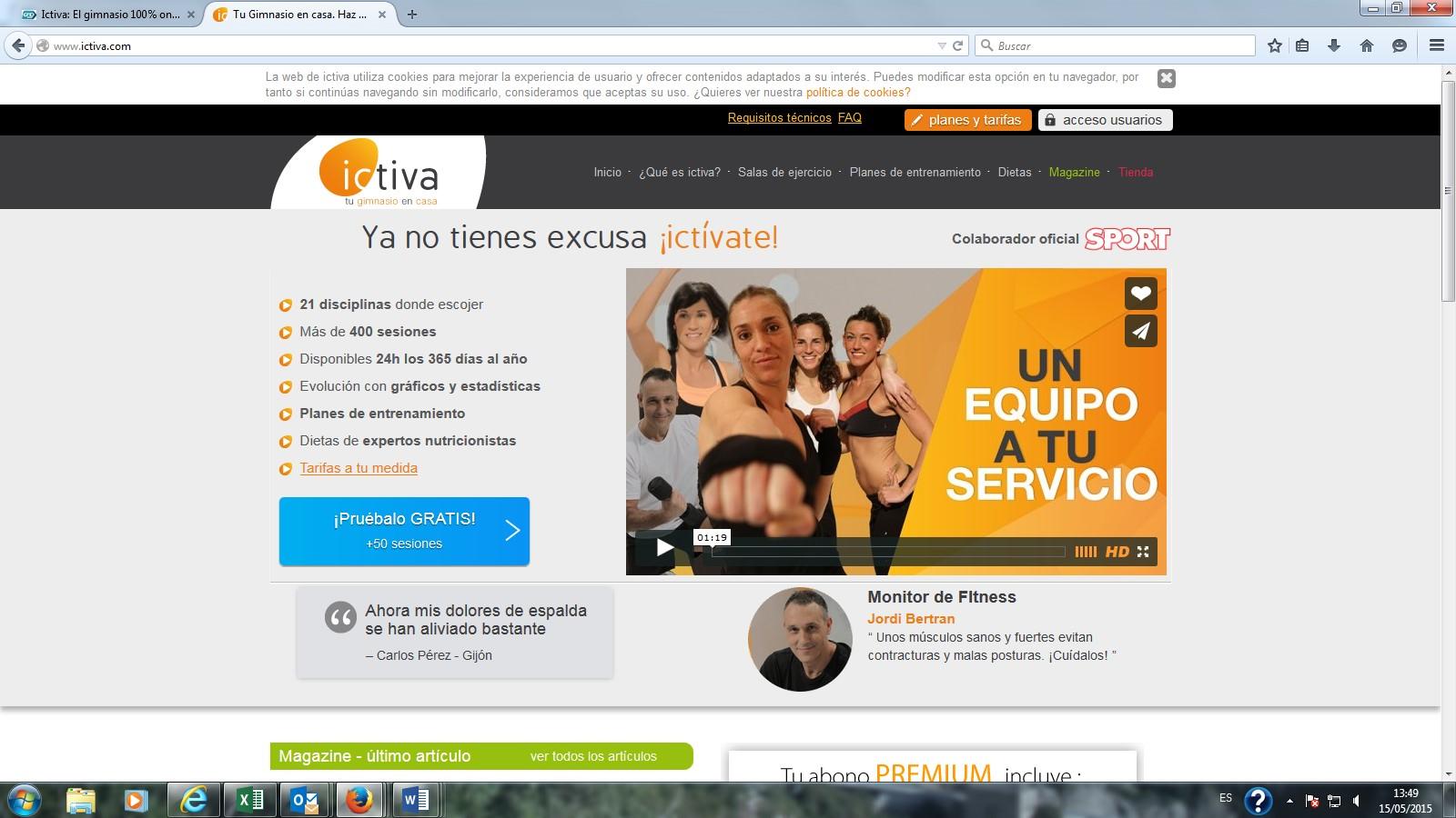 Ictiva: El gimnasio 100% online