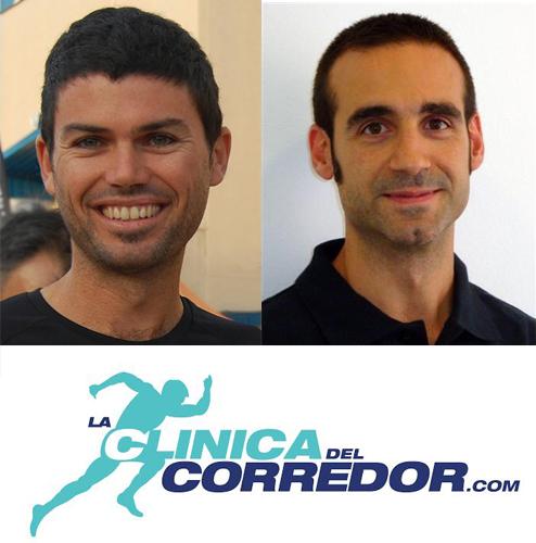 Álex Álvarez (izquierda) y Albert Carrère (derecha), de la Clínica del Corredor.