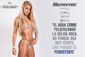 Christty Repetto es la imagen de la nueva gama de productos para mujer de Nutrytec.