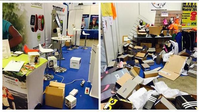 Destrozan y roban material de la Feria del Corredor de Madrid