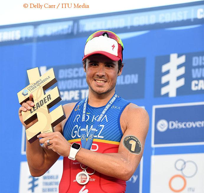 Tres españoles lideran el ránking mundial de triatlón