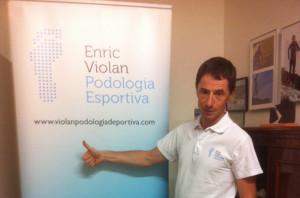 Enric Violan es podólogo deportivo.
