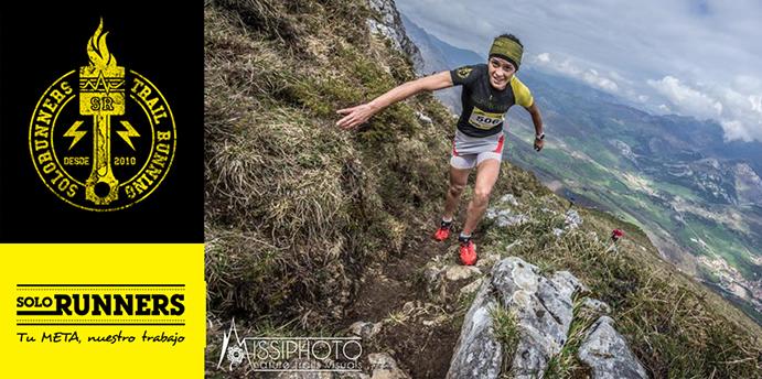 La corredora del Solorunners Trail Gaby Sánchez vence en el KM Vertical de Arena de Cabrales