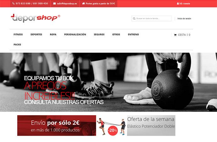 Deporshop renueva su web para hacerla más funcional