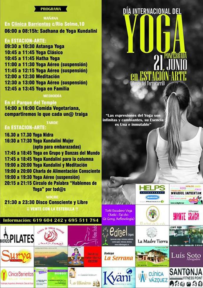 Ponferrada celebra el Día del Yoga con 17 horas seguidas de práctica