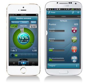 La aplicación de Preva® para iPhone permite a los usuarios hacer un seguimiento exhaustivo de sus avances y objetivos de fitness desde cualquier  lugar.