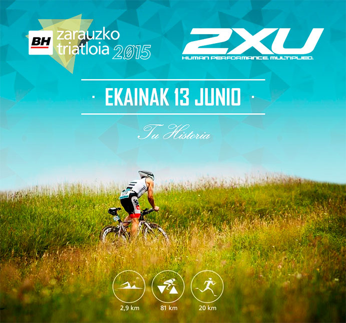 2XU firma con el Triatlón de Zarautz por tres años