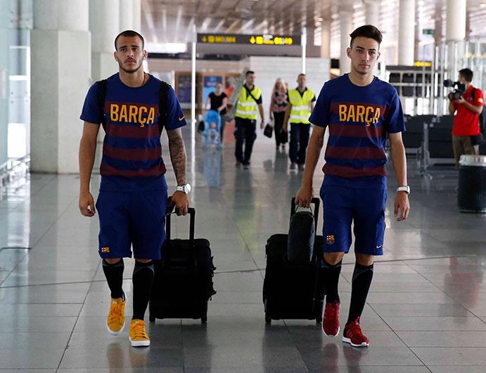 El FC Barcelona utiliza los calcetines Arch Max durante su gira americana