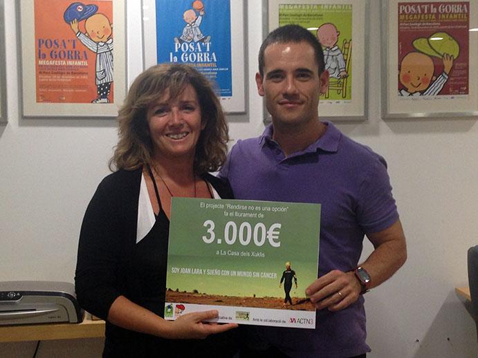 Joan Lara recorrerá más de 1250 km en un reto solidario