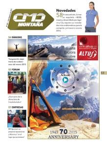La marca  ALTUS es la espónsor de la sección MONTAÑA del número 367 de CMDsport, correspondiente a Julio-Agosto de 2015.