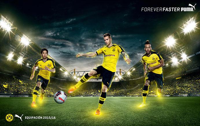 Puma firma con el Eibar y presenta las camisetas del Borussia Dormunt