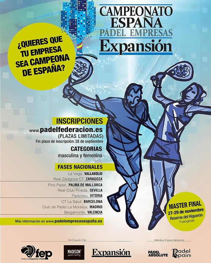 Nace el Campeonato de España de Pádel  de Empresas Expansión