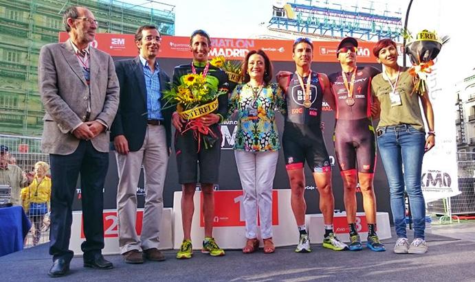 Héctor Guerra es el primer vencedor del Triatlón KM0 de Madrid