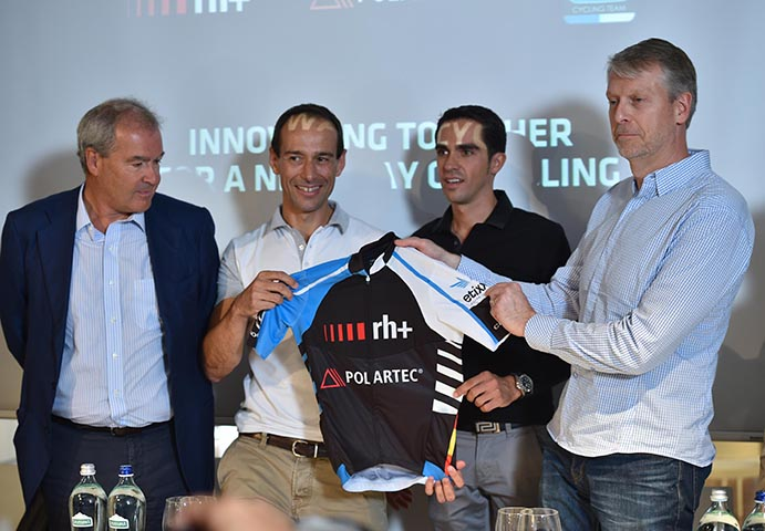 Polartec y Rh+ crean un maillot para la Fundación Alberto Contador