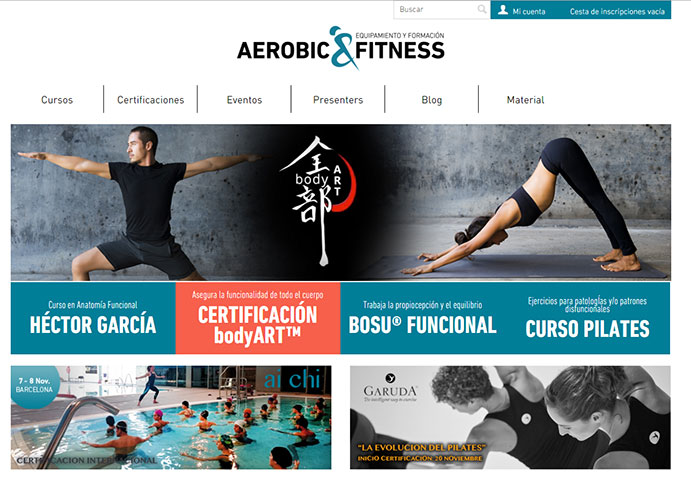 Aeróbic&Fitness refuerza su división de formación con una web específica