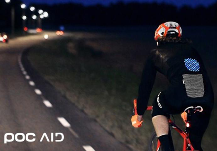 Poc diseña un sistema de estampación que mejora la visualización del ciclista
