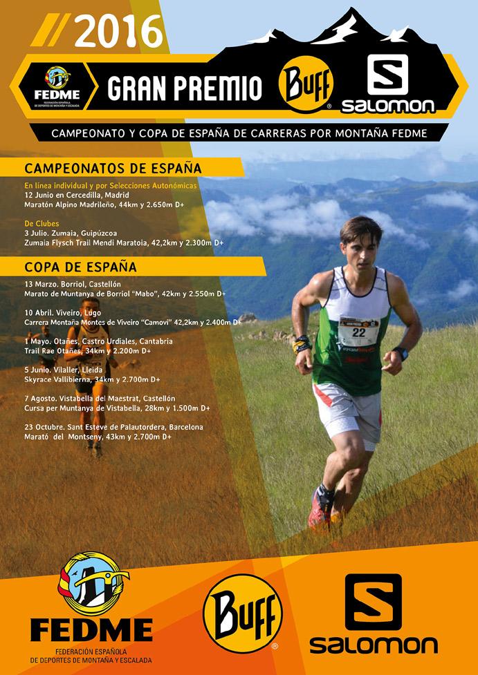 La Fedme publica el calendario de Carreras por Montaña 2016