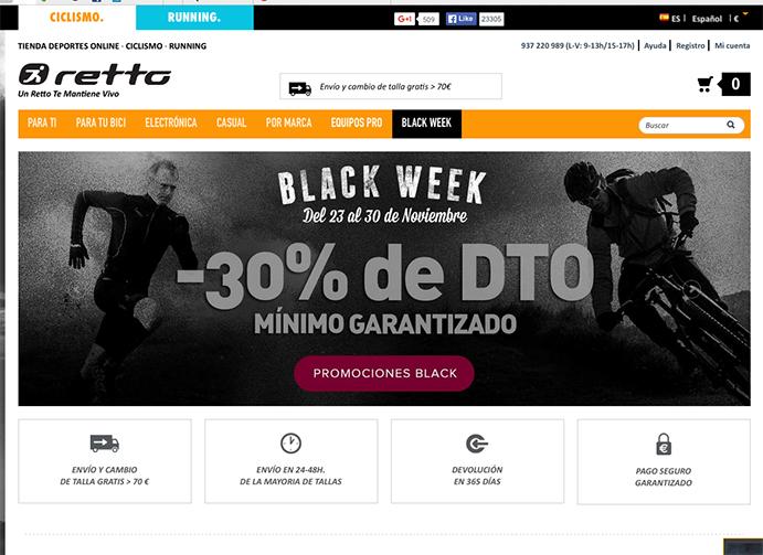 Retto.com lanza una campaña especial por el Black Friday