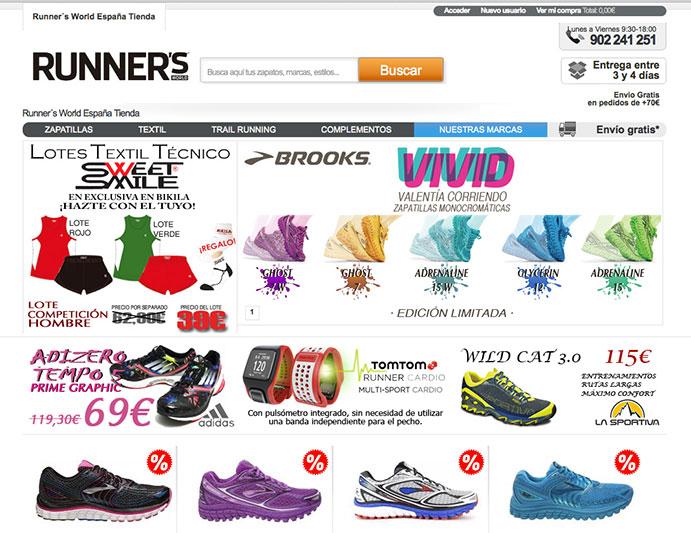 Las tiendas online de running mejor posicionadas en Internet