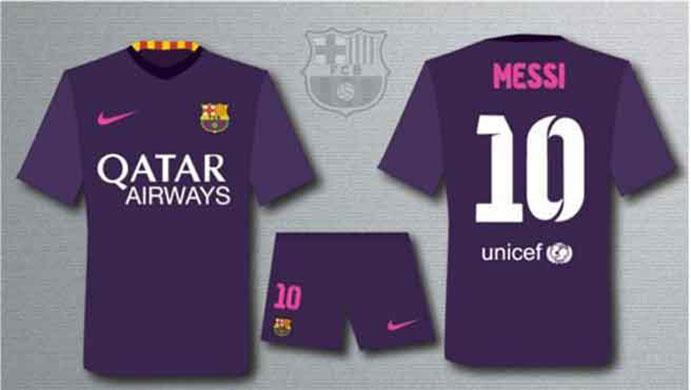 segunda equipacion Barcelona futbol