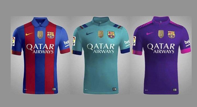 Colores llamativos en las nuevas camisetas del Barça