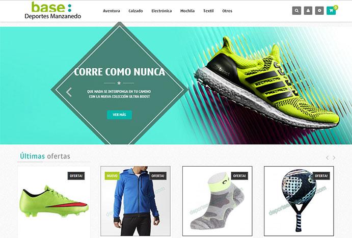 Base Deportes Manzanedo estrena imagen y tienda online