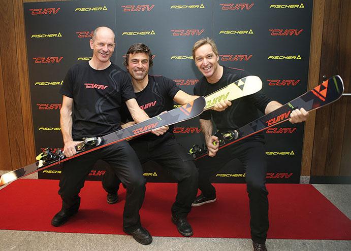 Fischer crea el esquí 'The Curv' junto a los campeones mundiales