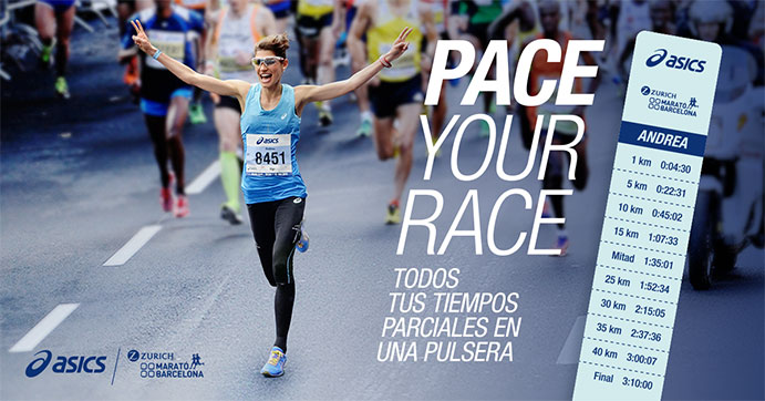 Asics ofrece su servicio Pace Your Race a los corredores del Maratón de Barcelona