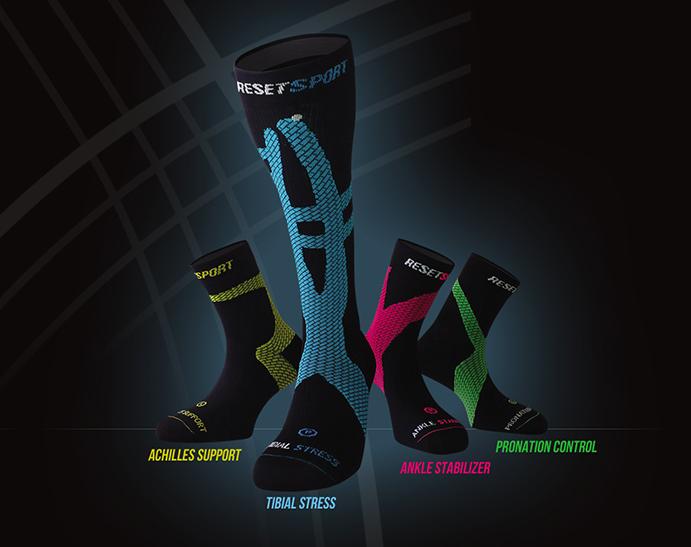 Reset Sport desarrolla el primer calcetín kinesiológico del mercado
