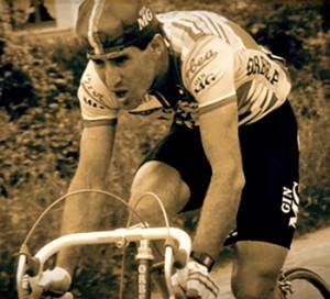 Pepe del Ramo en su época como ciclista profesional. Esta imagen corresponde a su participación en el Tour de Francia de 1985.