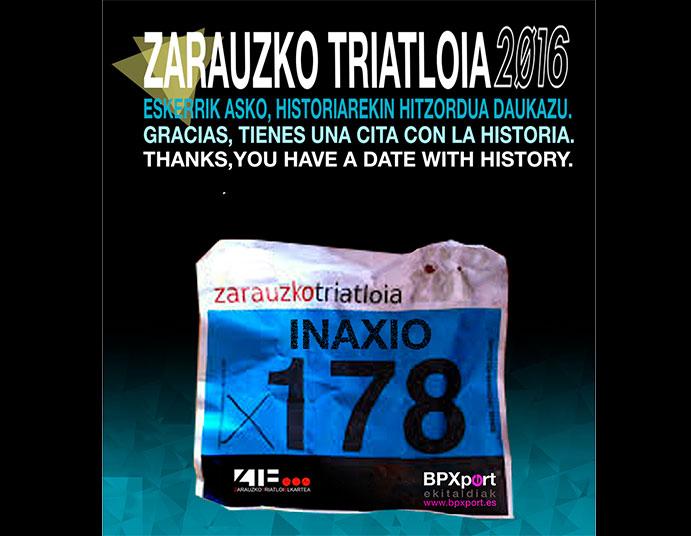 Zarauzko Triatloia 2016 agota en dos minutos todos los dorsales disponibles