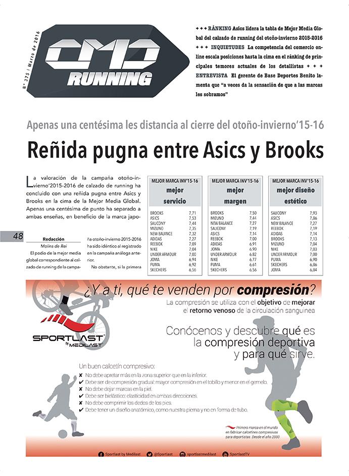 Asics y Brooks se disputan el podio de mejor marca global de running de este invierno