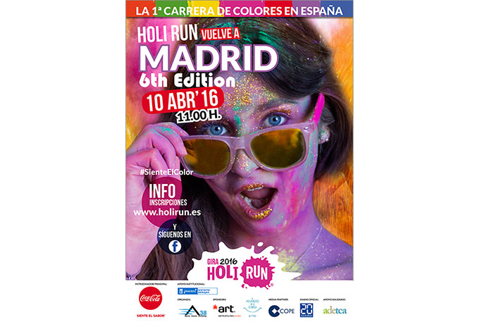 La Holi Run añade más color en su vuelta  a Madrid