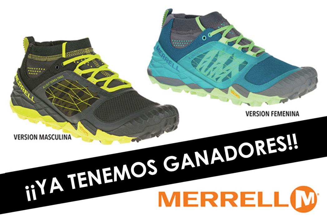 Ganadores del sorteo de dos pares de zapatillas All Out Terra Trail de Merrell