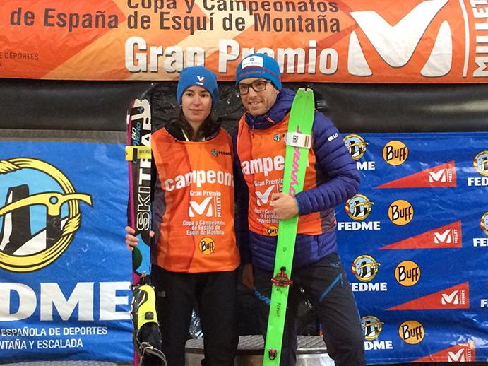 Marc Pinsach y Marta García suben al podio en Formigal