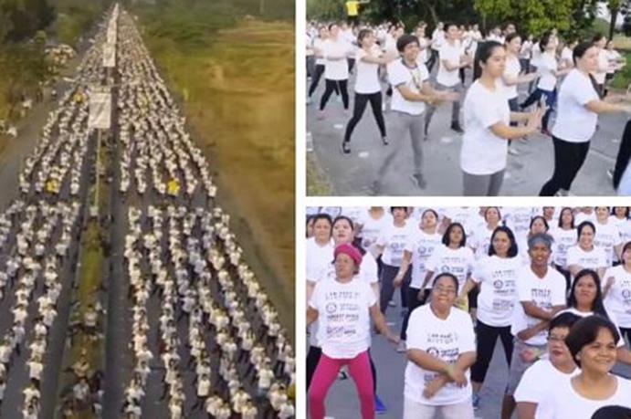 Nuevo récord Guinness de la clase de aerobic más grande del mundo